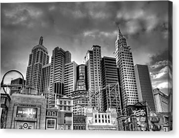 New York New York Black And White Canvas Print