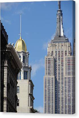 Canvas Print featuring the photograph New York New York by Ira Shander