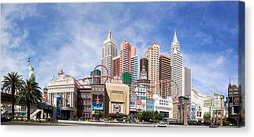 New York New York Las Vegas Canvas Print by Jane Rix