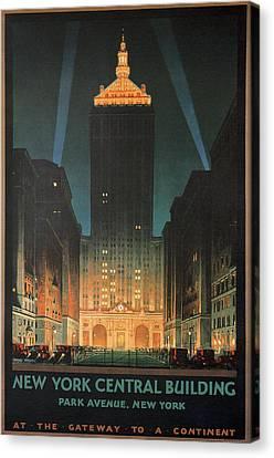 Times Square Canvas Print - New York Park Avenue by Georgia Fowler