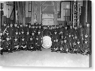New York Police Band Canvas Print by Underwood Archives