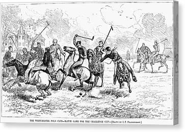 New York Polo, 1876 Canvas Print by Granger