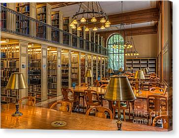 New York Public Library Genealogy Room I Canvas Print by Clarence Holmes