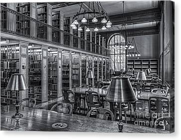 Genealogy Canvas Print - New York Public Library Genealogy Room II by Clarence Holmes