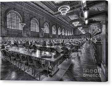 New York Public Library Main Reading Room V Canvas Print by Clarence Holmes