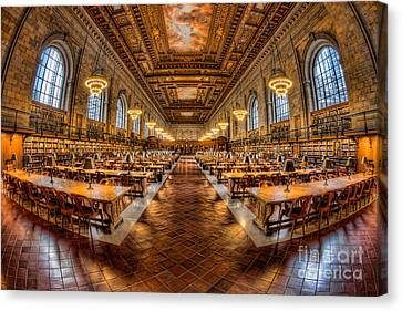 New York Public Library Main Reading Room Vii Canvas Print