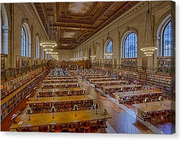New York Public Library Rose Room  Canvas Print by Susan Candelario