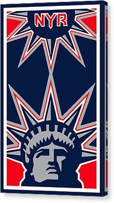 New York Rangers Canvas Print by Tony Rubino