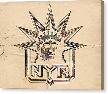 New York Rangers Vintage Poster Canvas Print
