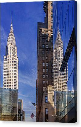 New York Reflections 20 Canvas Print by Angela A Stanton