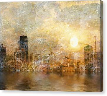 New York River Sunrise Canvas Print by Bruce Rolff