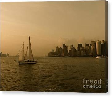 New York Sailing Canvas Print by Avis  Noelle