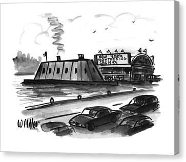 New York Sightseeing Cruises Canvas Print by Warren Miller