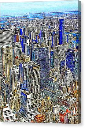 New York Skyline 20130430v2 Canvas Print by Wingsdomain Art and Photography