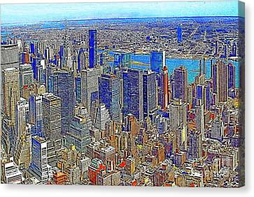 New York Skyline 20130430v3 Canvas Print