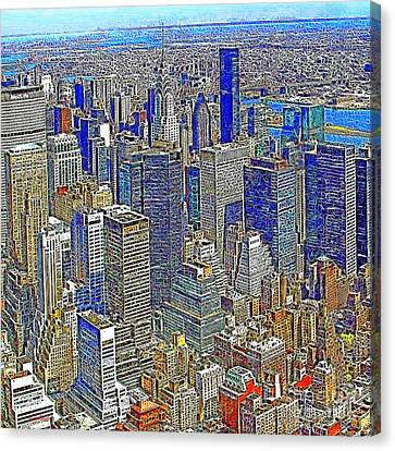 New York Skyline 20130430v4-square Canvas Print by Wingsdomain Art and Photography