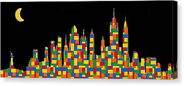 New York Skyline 3 Canvas Print by Andrew Fare