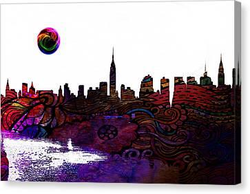 Lincoln Park Lagoon Canvas Print - New York Skyline by Celestial Images