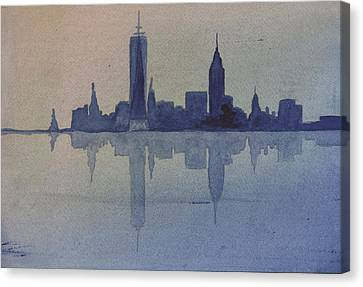 New York Skyline  Canvas Print by Donna Walsh