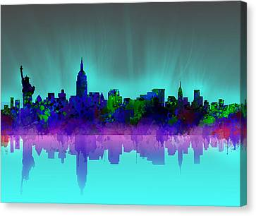 Abstract Digital Canvas Print - New York Skyline Gradient by Bekim Art