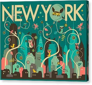 New York Skyline Canvas Print by Jazzberry Blue