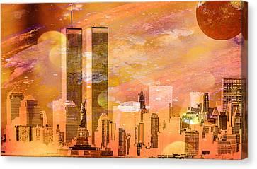 New York Skyline Canvas Print by Louis Ferreira