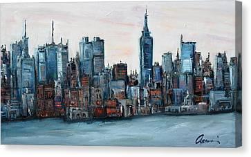 New York Skyline Canvas Print by Michael  Accorsi
