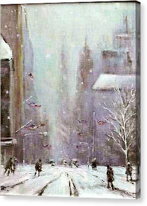New York Snow Day Canvas Print