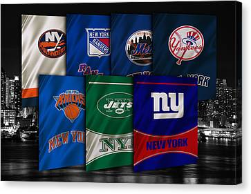 New York Sports Teams Canvas Print by Joe Hamilton