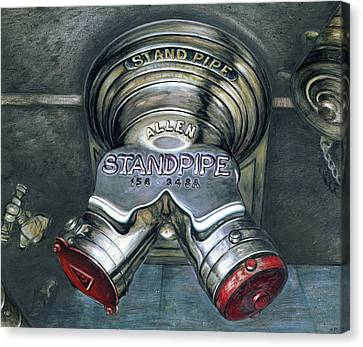 New York Standpipe - Still Life Canvas Print by Art America Online Gallery