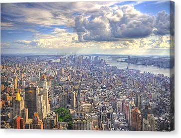 Big Apple Canvas Print - New York State Of Mind by Mandy Wiltse