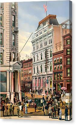 New York Stock Exchange 1882 Canvas Print by Mountain Dreams
