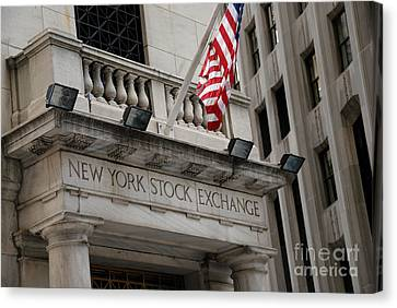 New York Stock Exchange Building Canvas Print by Amy Cicconi
