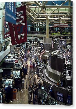 Frenzy Canvas Print - New York Stock Exchange by Mountain Dreams