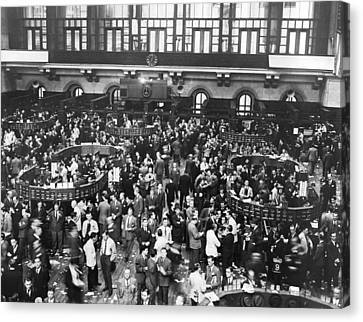 New York Stock Exchange Floor Canvas Print by Underwood Archives