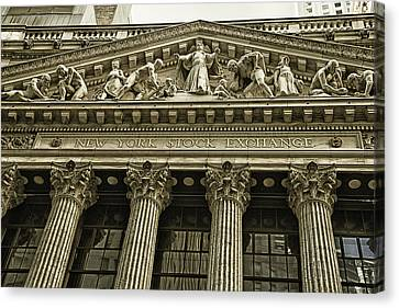 New York Stock Exchange Canvas Print by Garry Gay