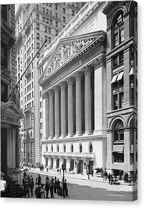 New York Stock Exchange, New York In 1904 Canvas Print by American School
