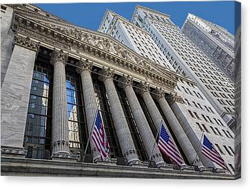 New York Stock Exchange Wall Street Nyse  Canvas Print by Susan Candelario