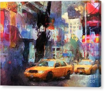 New York Street Canvas Print by Lutz Baar