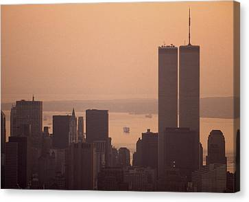 New York Sunset Canvas Print by Shaun Higson