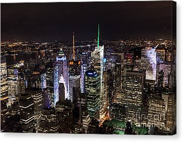 New York Times Square Canvas Print by Matt Malloy