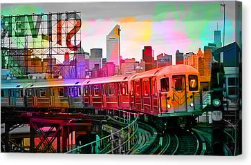 Train Tracks Canvas Print - New York Train by Marvin Blaine