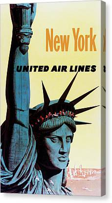 New York United Airlines Canvas Print by Mark Rogan