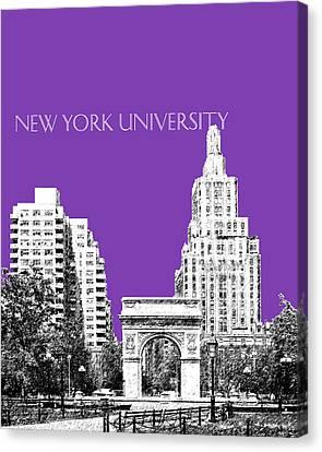 New York University - Washington Square Park - Purple Canvas Print by DB Artist