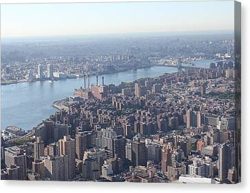 Canvas Print featuring the photograph New York View by David Grant