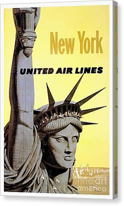 New York Vintage  Travel Poster Canvas Print by Jon Neidert