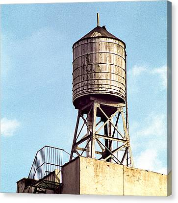 New York Water Tower 1 - New York Scenes  Canvas Print by Gary Heller