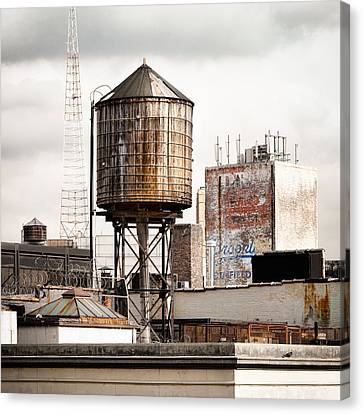 New York Water Tower 16 Canvas Print by Gary Heller