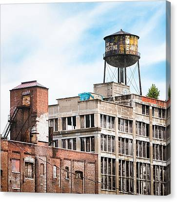 Canvas Print featuring the photograph New York Water Towers 18 - Greenpoint Water Tower by Gary Heller