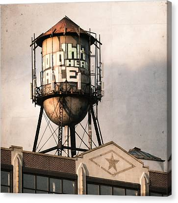 New York. Water Towers 6 Canvas Print by Gary Heller